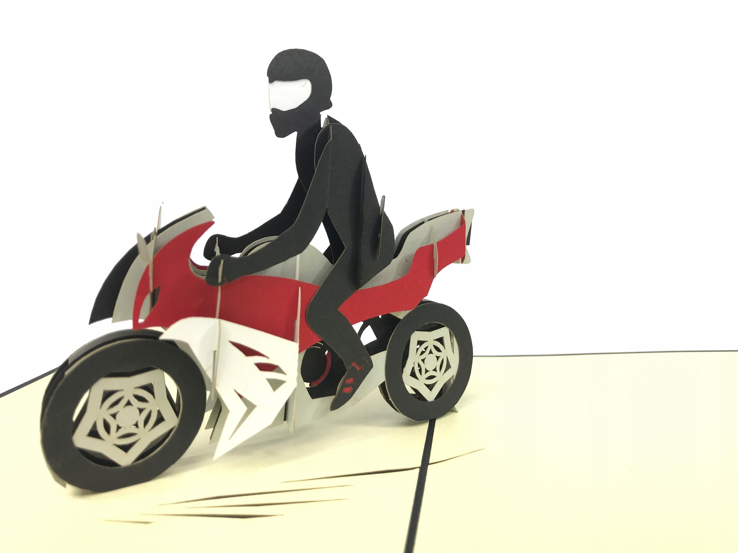 Для иванны, мотоциклист открытка