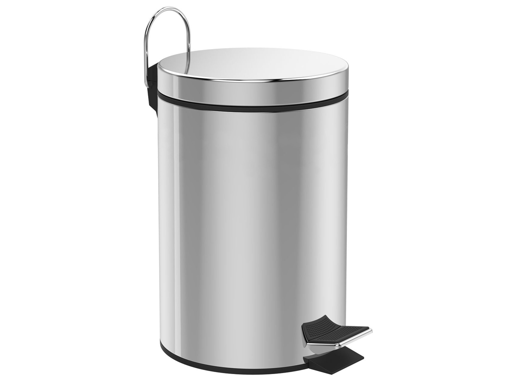 Корзина для мусора 12 Л нержавеющая СТАЛЬ, ХРОМ