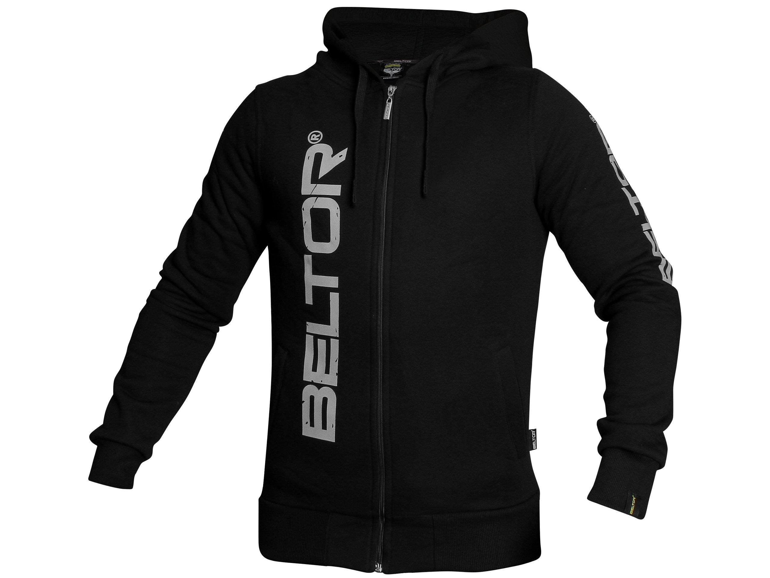 BELTOR BW Mikina na Zips s kapucňou, Originálne čierna XXL
