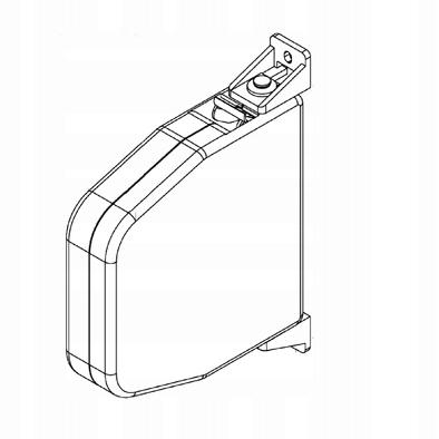 Zwijacz na linkę do rolet zewnętrznych biały/ brąz