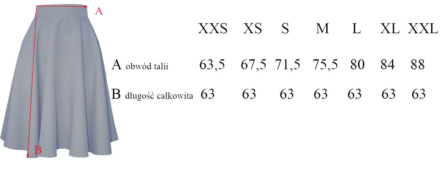 XXL MIDI khaki spódnica z koła rozłożysta 44 7017520125