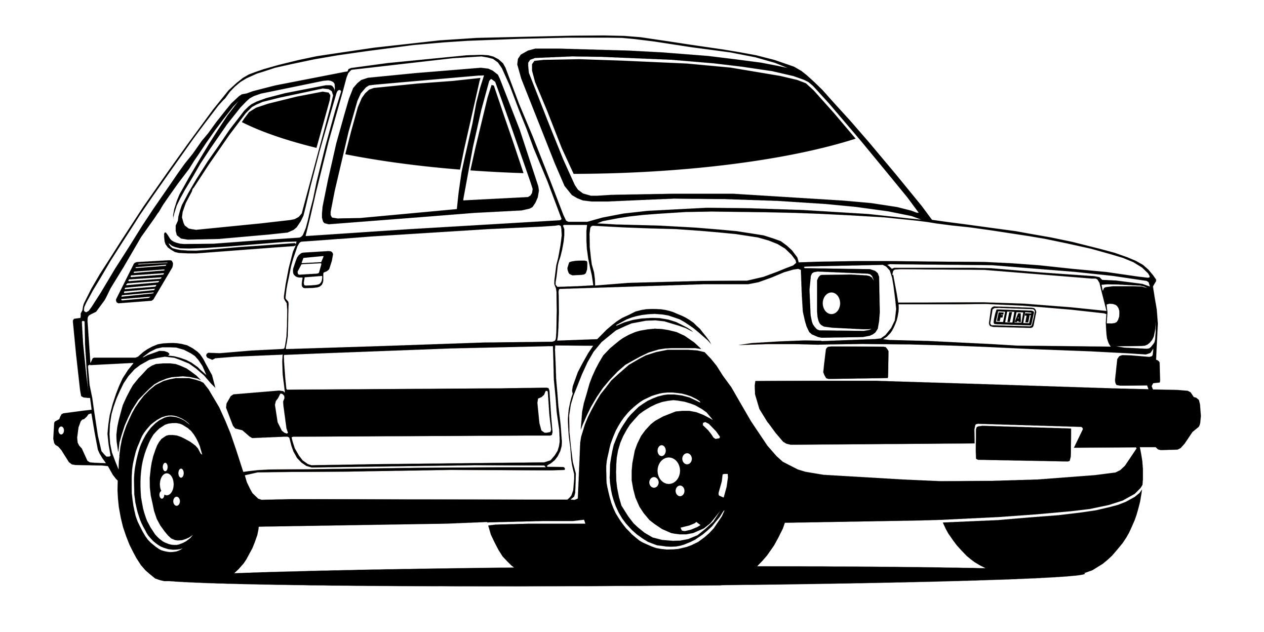 STENY ODTLAČKOVÝ FIAT 126P DIEŤA RETRO 25X50CM