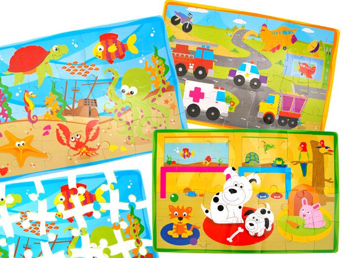 Piankowe miękkie puzzle zwierzątka autka ZA1389 Kod producenta ZA1389