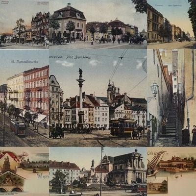 Pocztówki Warszawy reprint historyczny 9 sztuk