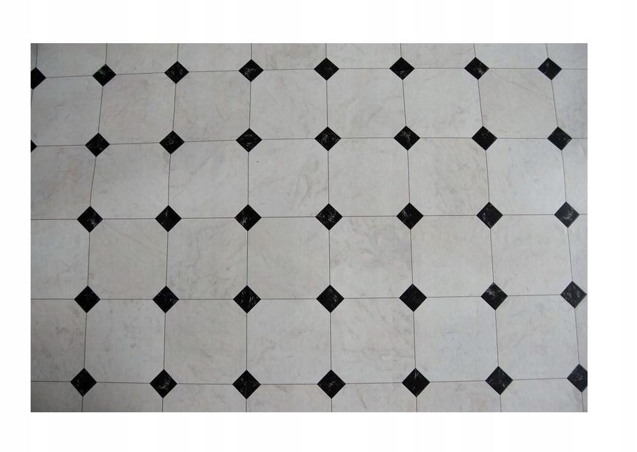 Koberec KOBEREC, PVC, DLAŽBA 400x600 white-black @78034