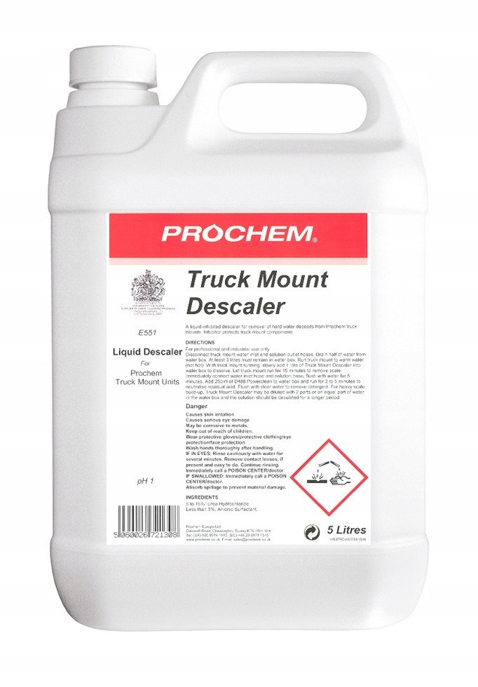 Прах Truck Mount Descaler E551 5 Л для удаления накипи
