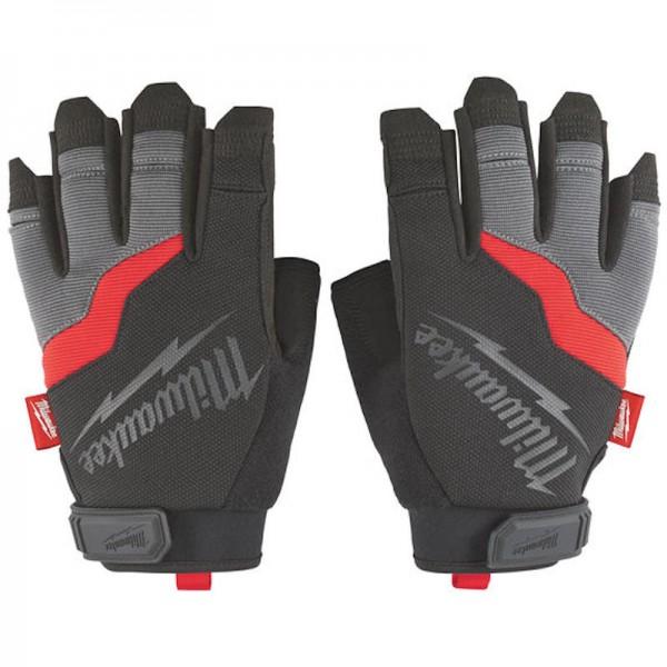 Milwaukee pracovné rukavice bez prstov 10 / XL silné