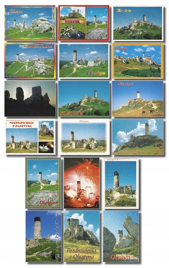 Olsztyn Castle K. Częstochowa pohľadnice sada 18
