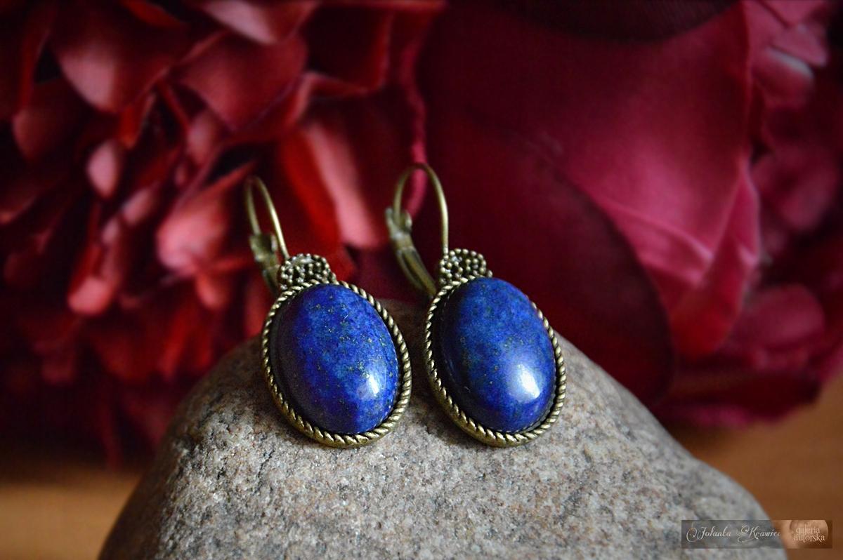 Lapis lazuli Náušnice od ročníka zbierky z Galérie
