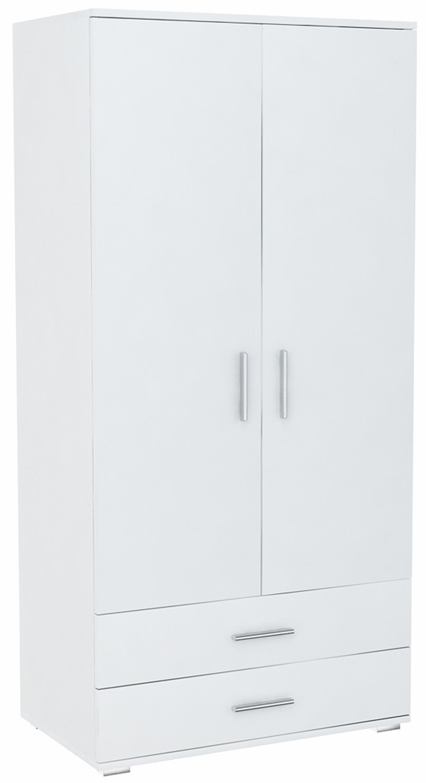Шкаф двое дверей BODO 2D2S белая  2 ящики Стеллаж