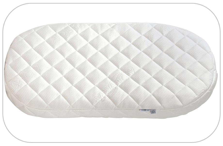 Materac owalny do gondoli kołyski dla dzieci 75x30