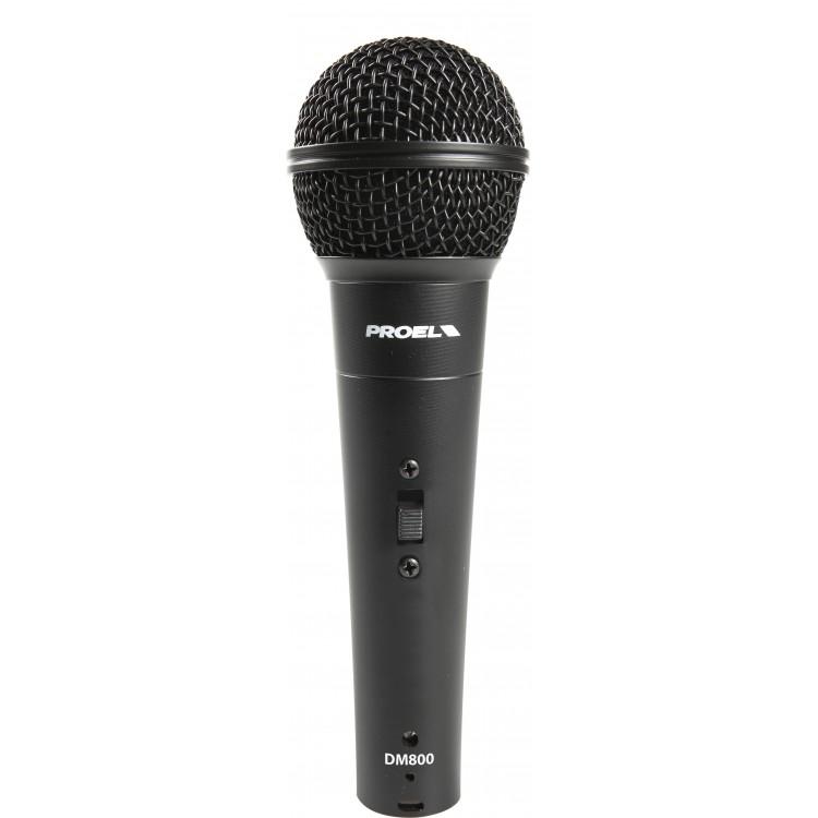 Proel DM800 - dynamický mikrofón s prepínačom!
