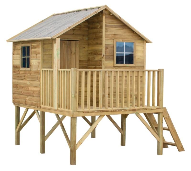 Drevený záhradný dom pre deti. Jerzyk