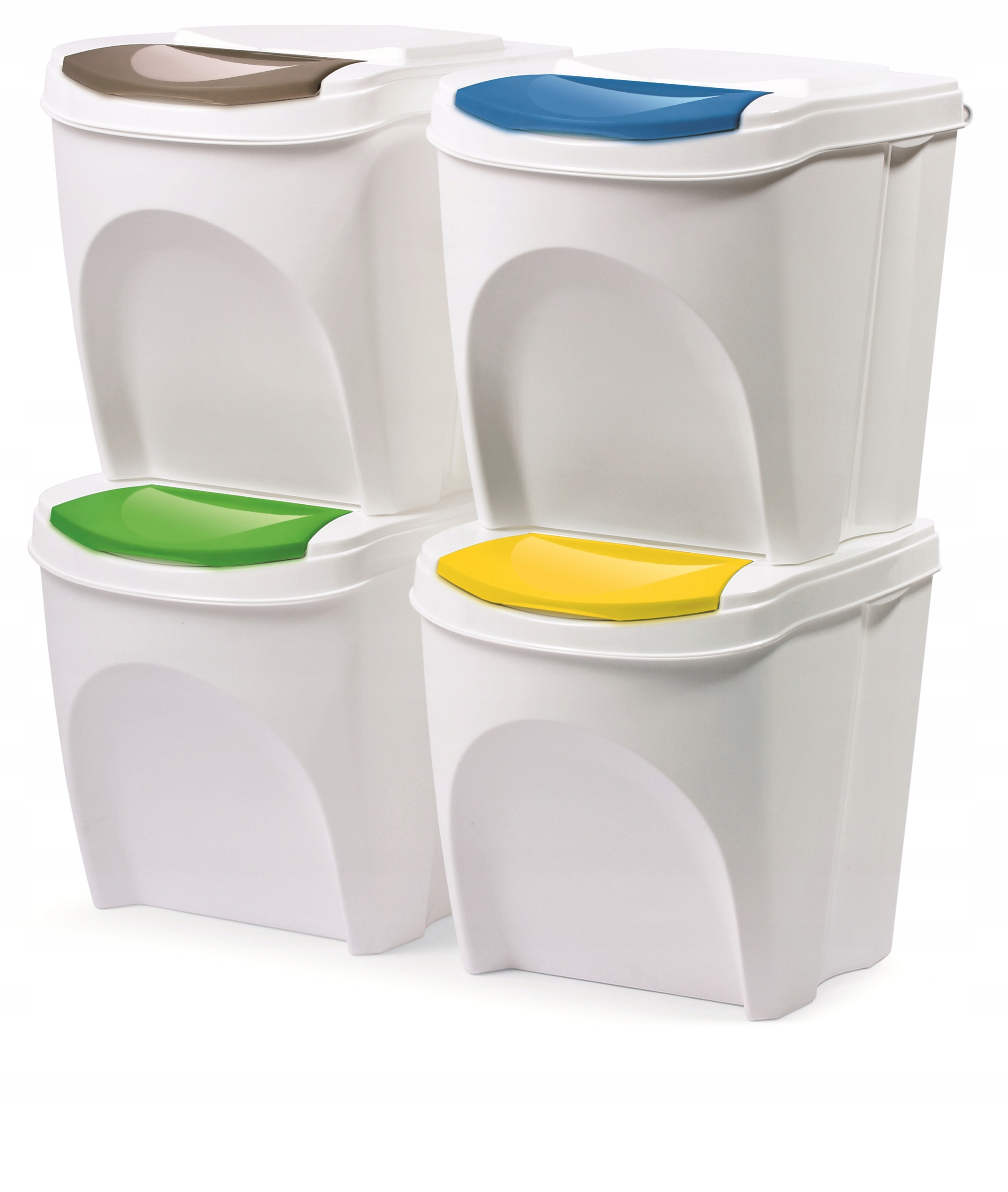 Item Set of 4x TRASH for segregation of garbage 4x20l