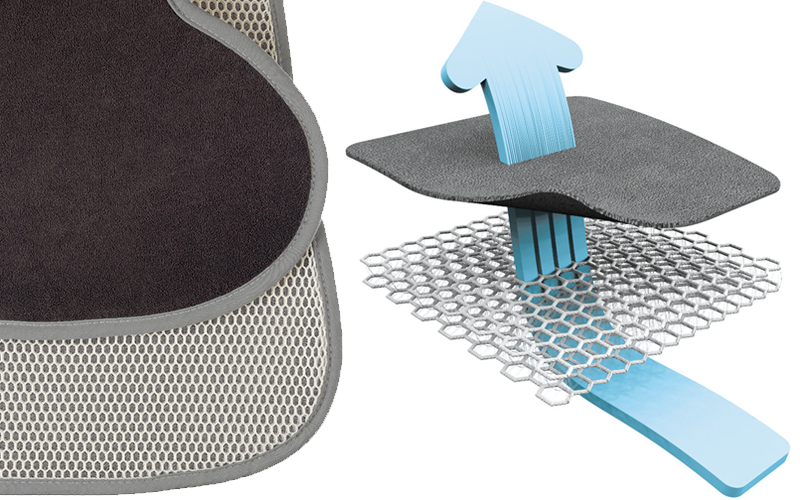 Aeromoov sleep wkładka antypotowa fotelika 0-13 kg Kolor dominujący szary