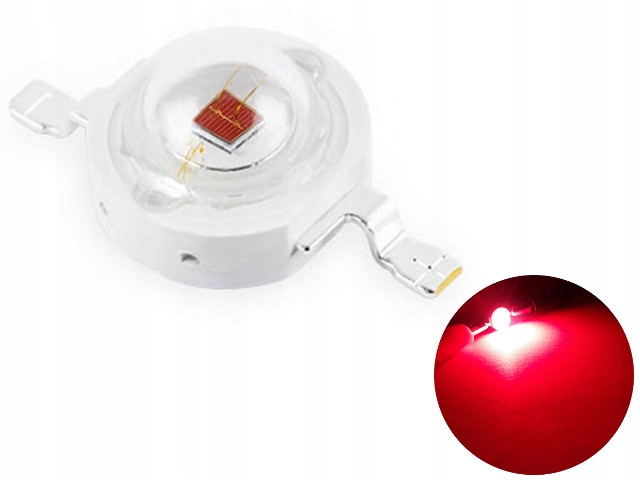 Светодиод POWER LED 3W EPILEDS Deep Red 660nm 42mil