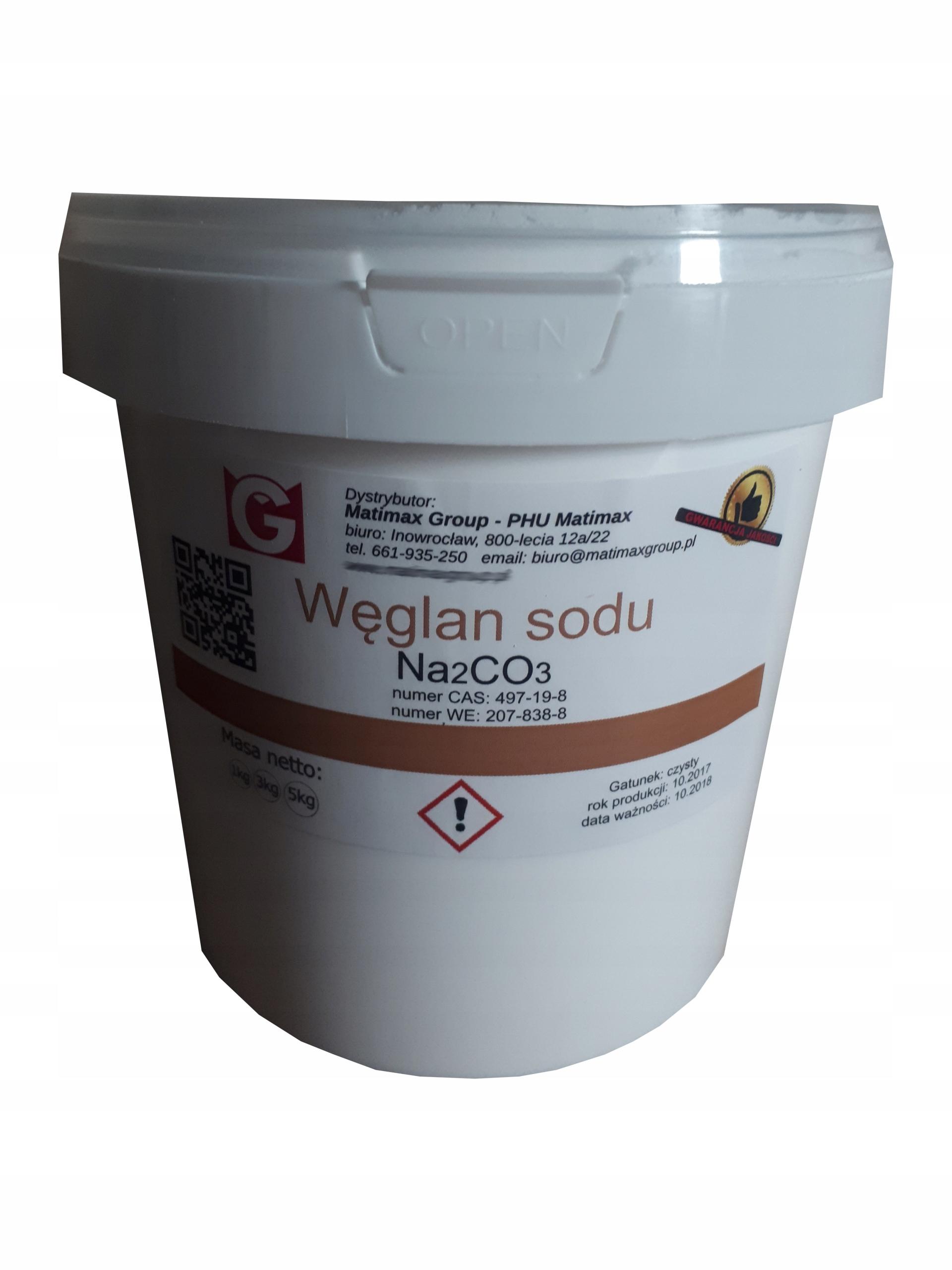 SODA KALCYNOWANA Węglan sodu czysty 1kg