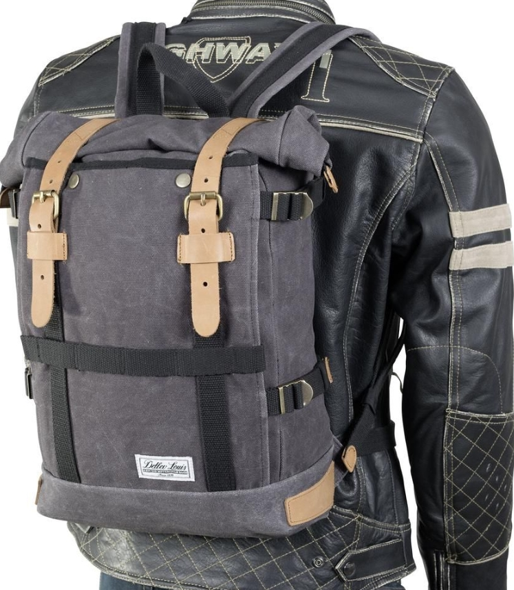 Na 17L motocykel batoh VINTAGE Plátno Harley Nové