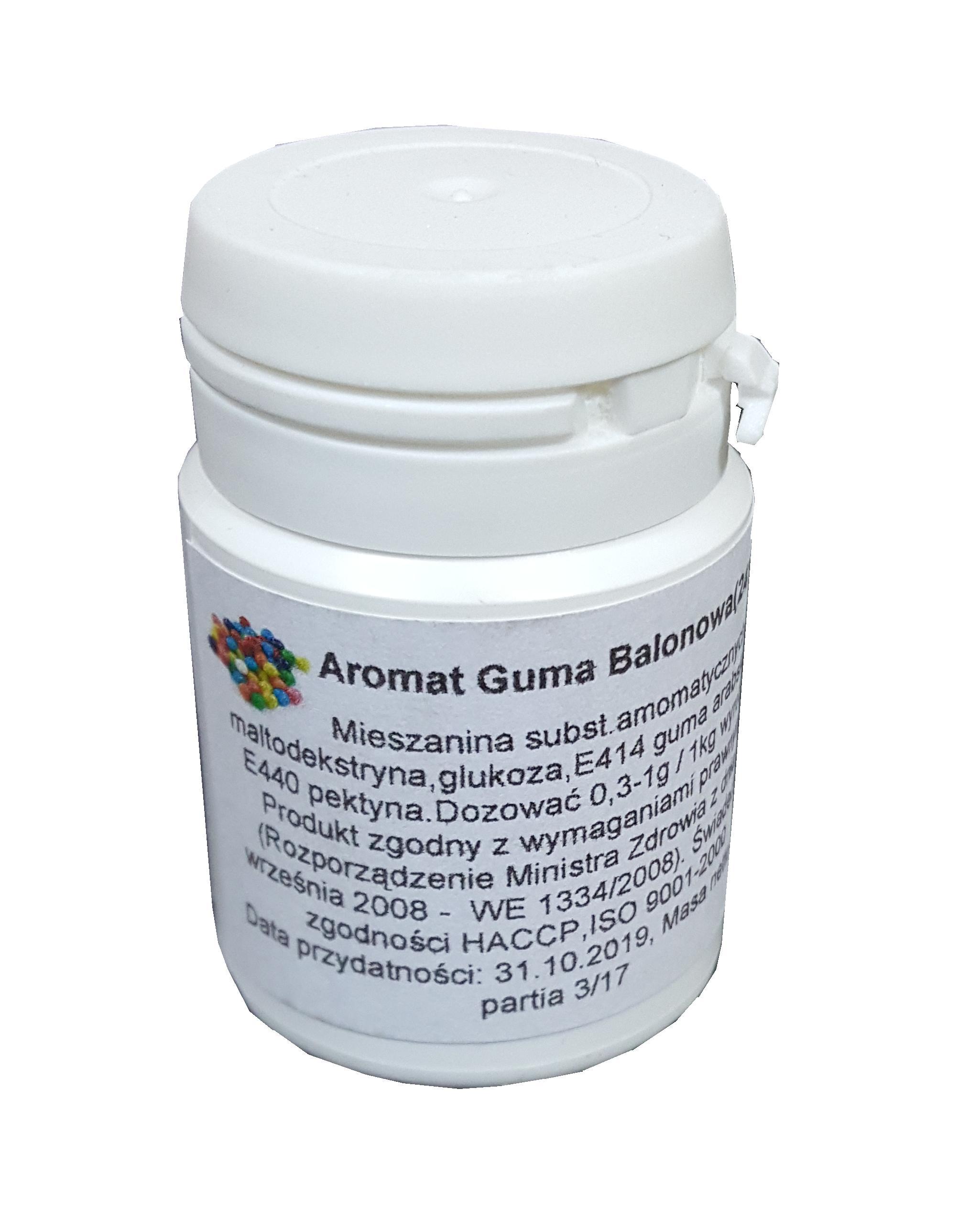id_2414 AROMAT GUMA BALONOWA 20g TORT AROMATY