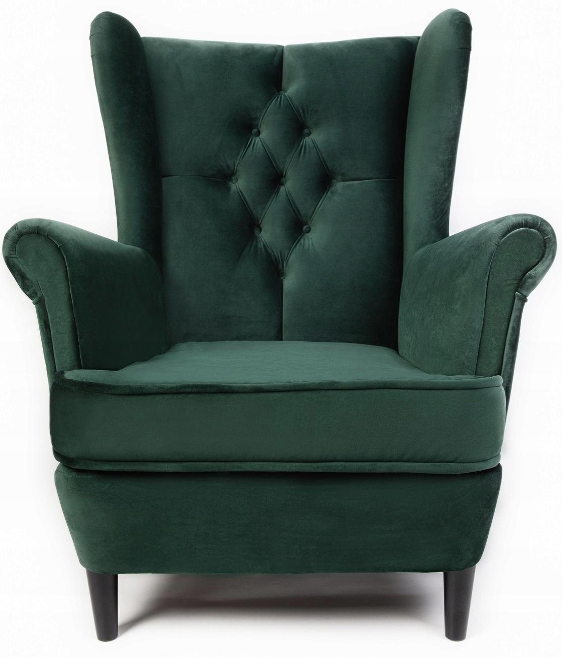 USZAK Кресло GLAMOUR в скандинавском стиле с подставкой для ног