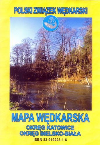 Rybárska mapa Okres Katowice Bielsko-Biała