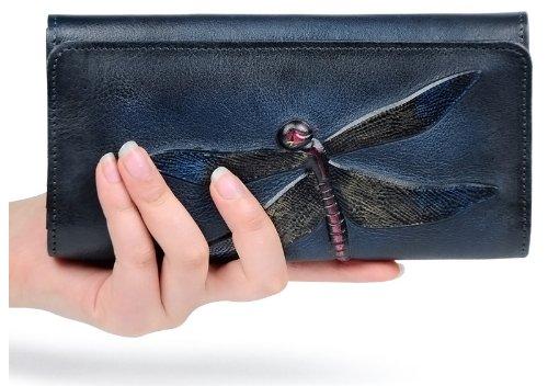 Peňaženka pre ženy hlboké farby kože vintage