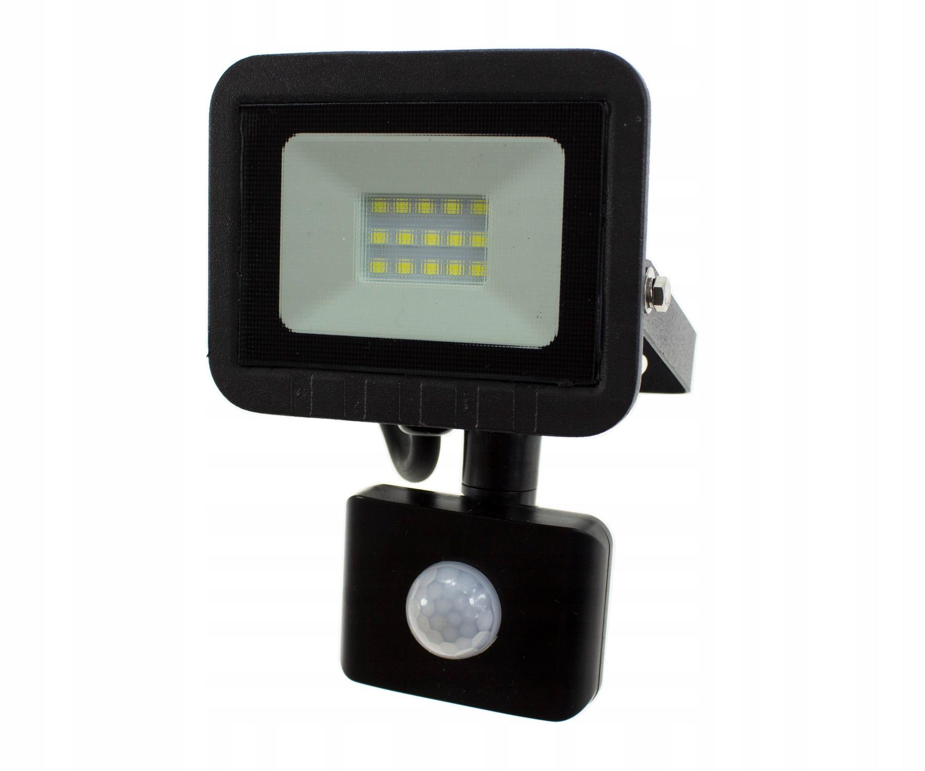 Naświetlacz LED SLIM 20W halogen Z CZUJNIK RUCHU