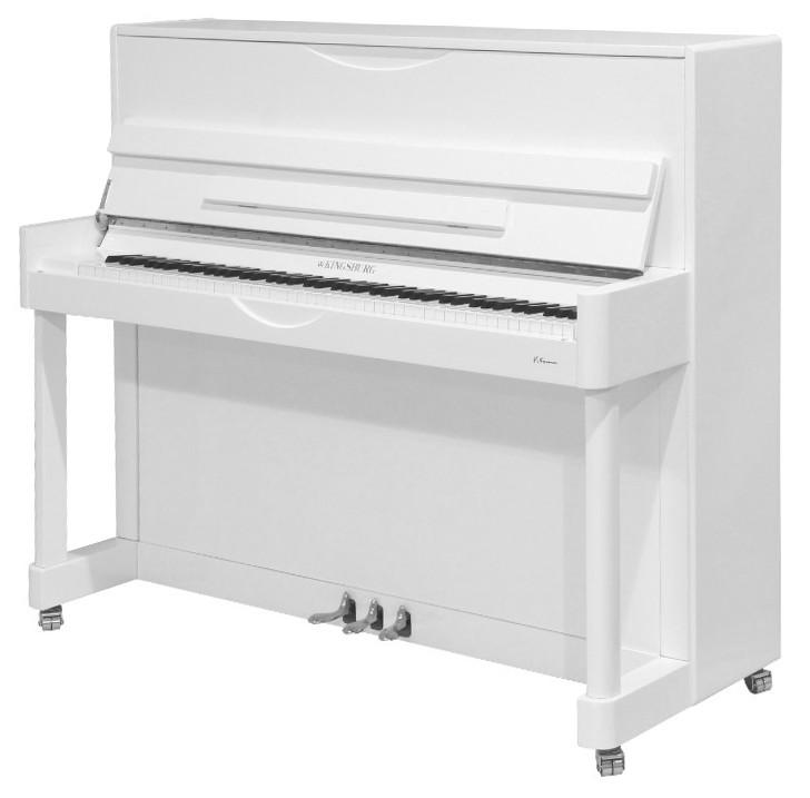 Biele Kingsburg Piano - Americký zvuk