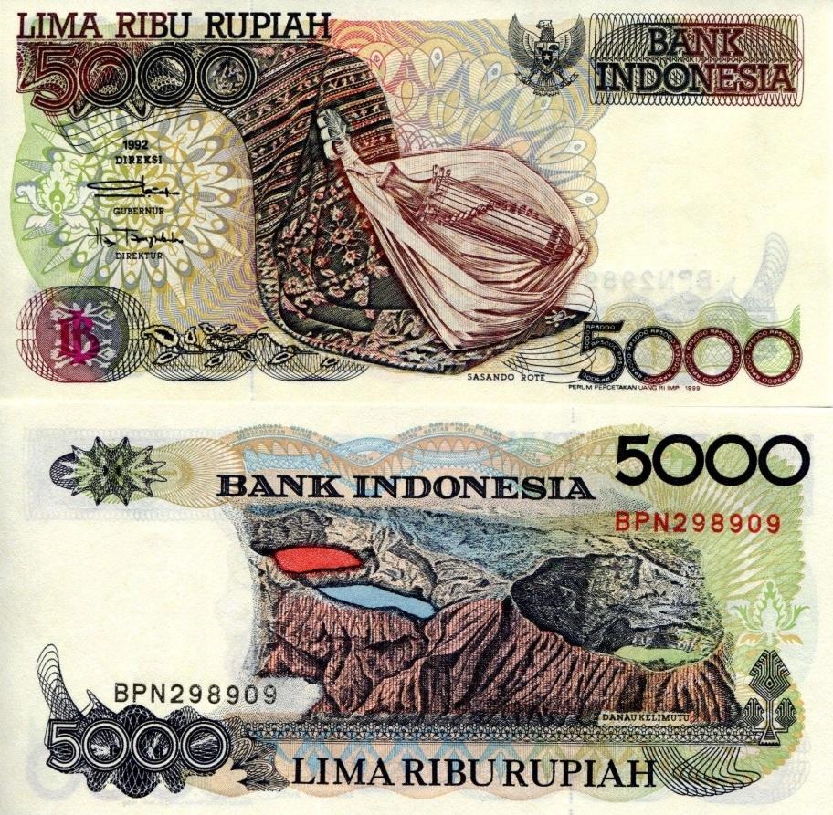 # INDONEZJA - 5000 RUPII - 1992 - P130 - UNC
