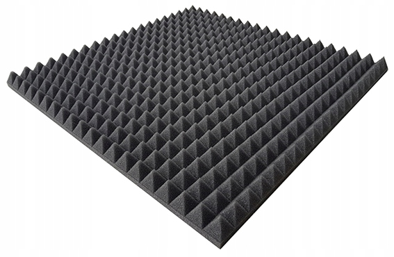 Item ACOUSTIC PANEL MATS, FOAM PYRAMIDS 50X50X3cm