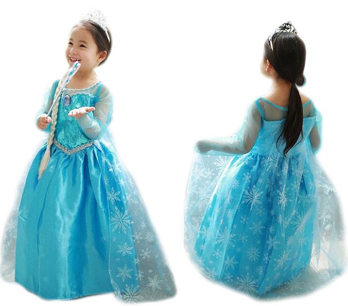 Sukienka Kostium Elsa Frozen Kraina Lodu 120cm