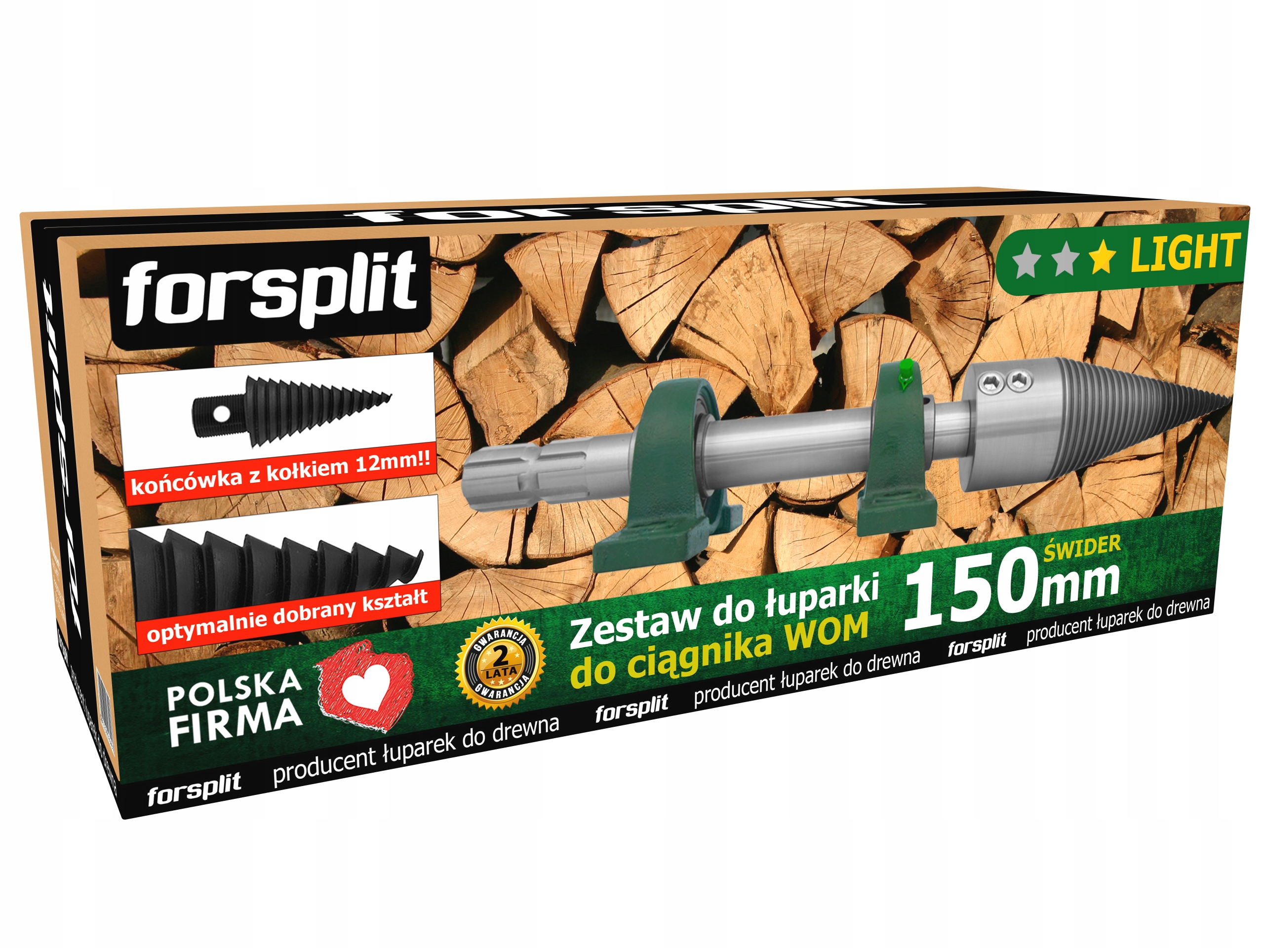 Splitter dreva 150mm pre traktor (PTO)