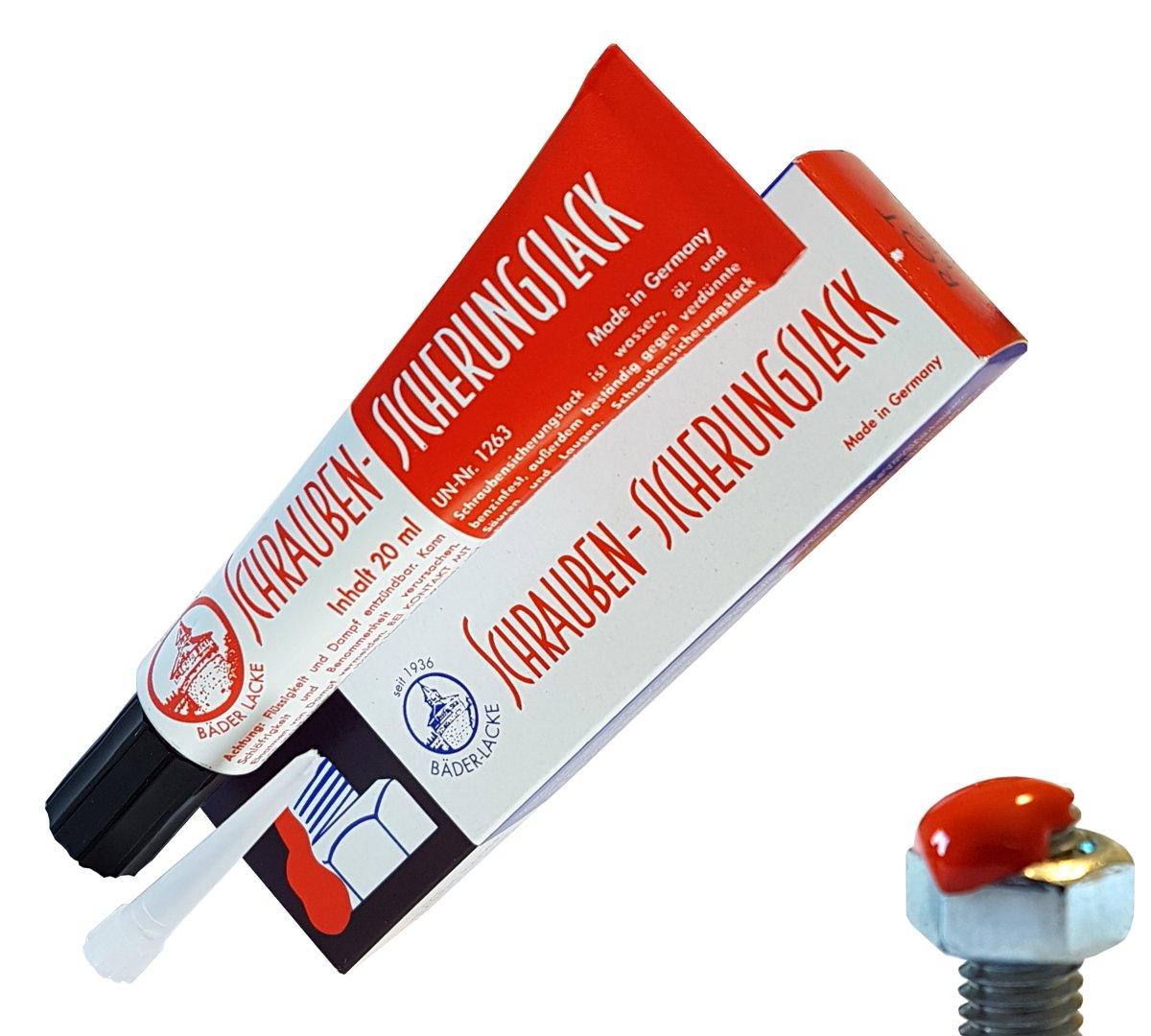 Уплотнение безопасности для винтов красного лака 20ml