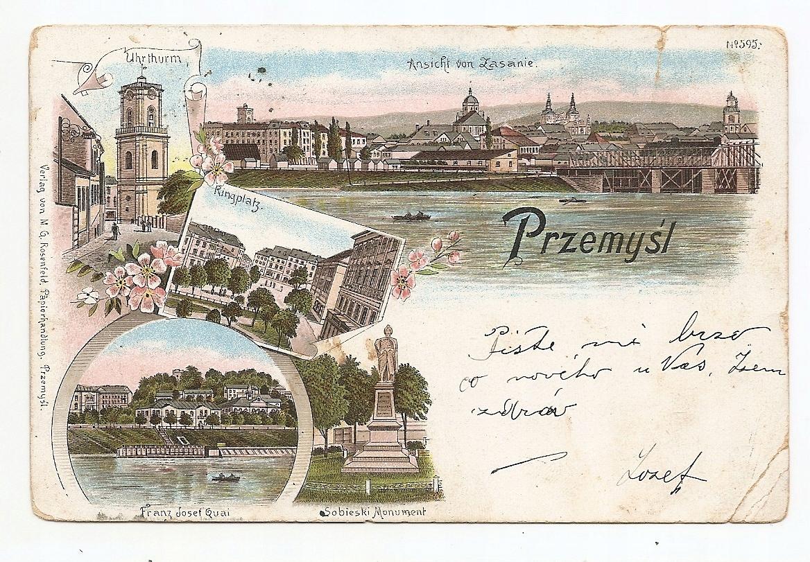 PRZEMYŚL -litografia -1898