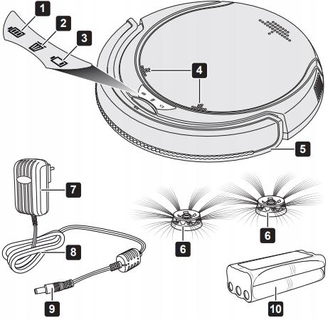 Odkurzacz automatyczny ROBOT DIRT DEVIL TRACKER Kod producenta 4012467940375