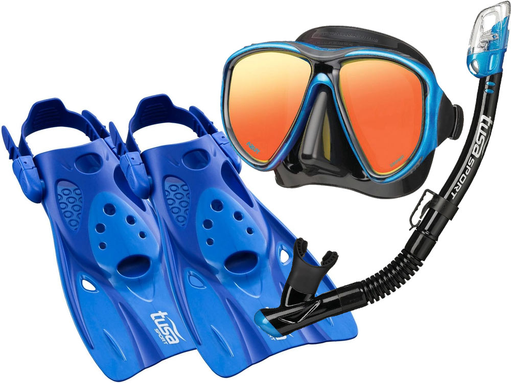 TUSA POWERVIEW NASTAVIŤ maska, PLUTVY, šnorchel UF0103 M