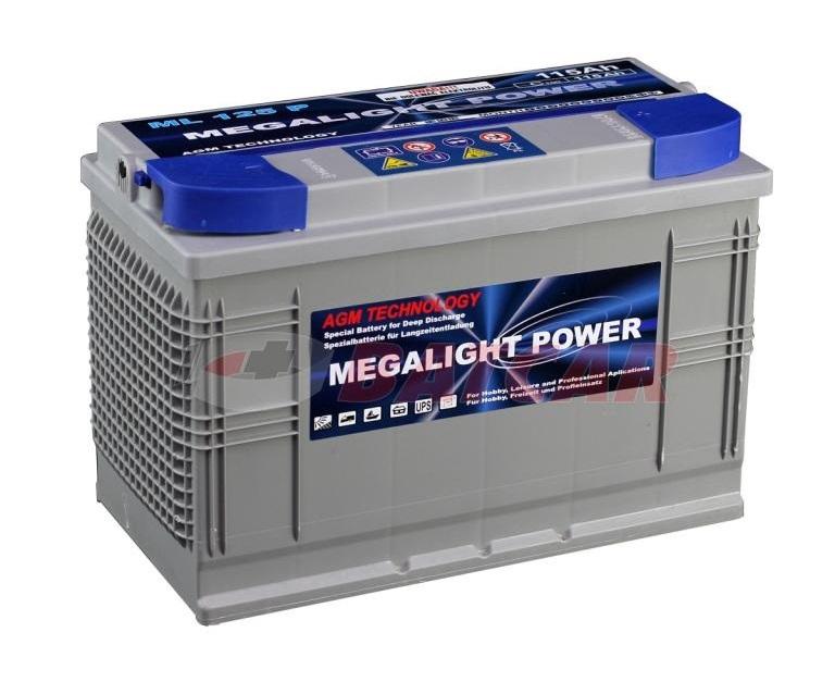 Thermotrousers MEGAlight batérie AGM 115 Ah gél camper čln