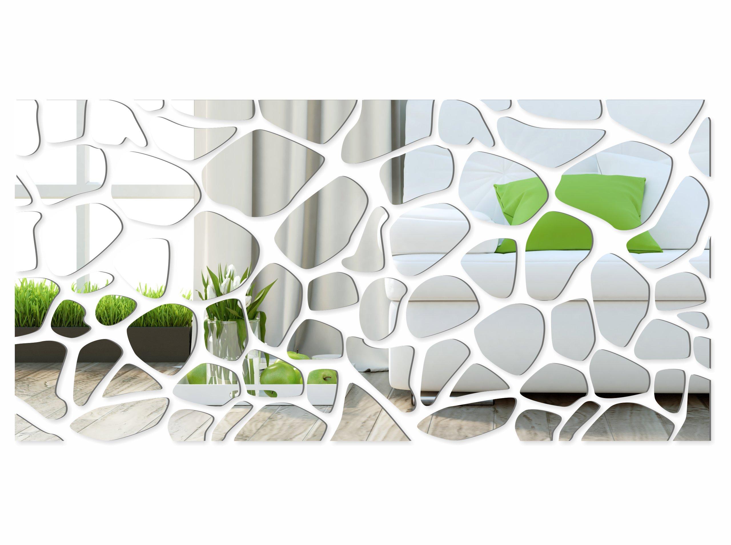 Piękne Dekoracyjne Lustro Akrylowe Rocks 140cm 3mm