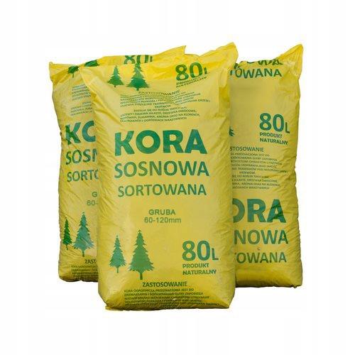 Hrubka borovicovej kôry triedená 3 tašky x 80l kor-pak