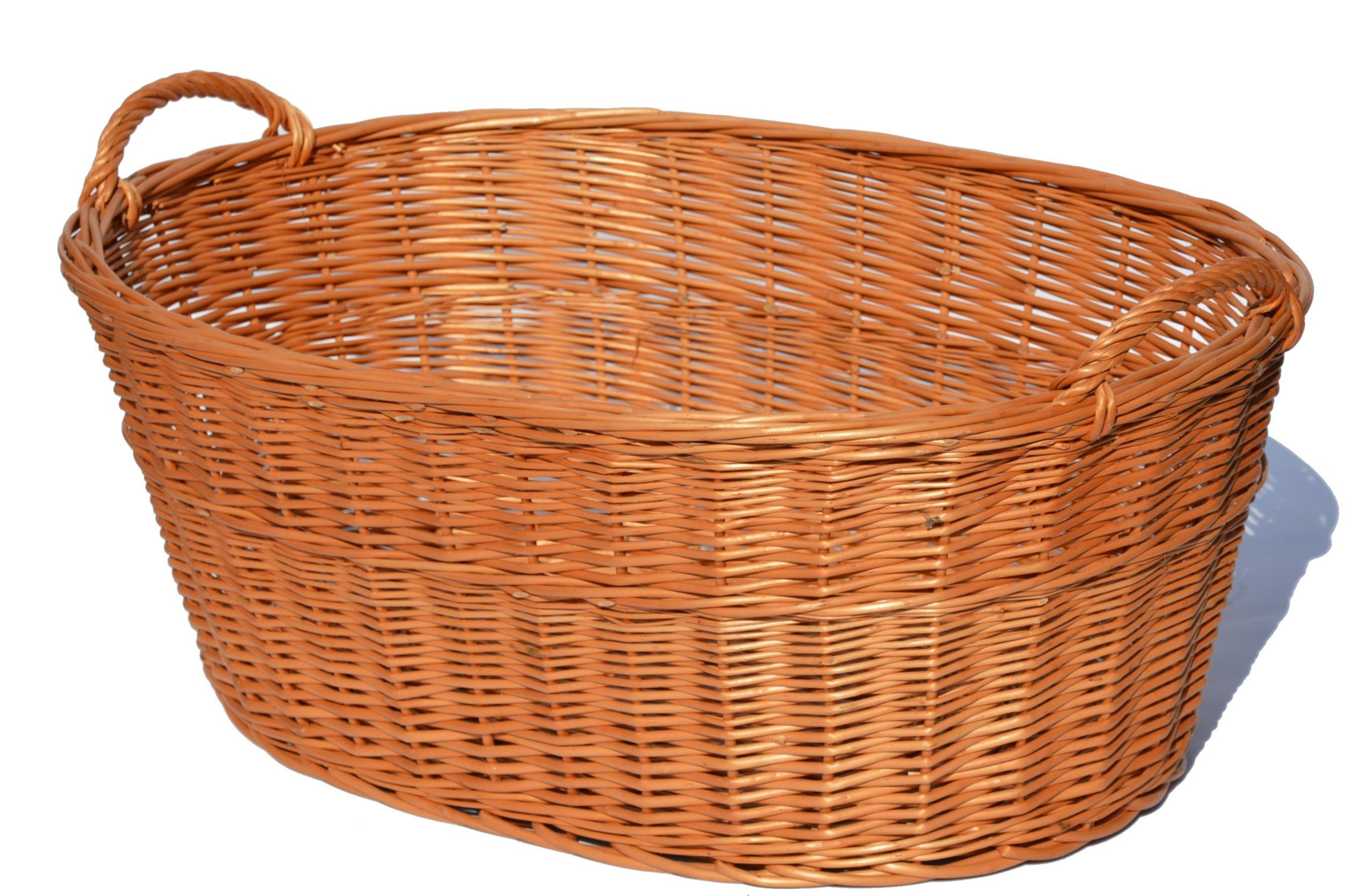 Košík pre bielizeň umývanie košíka prútené Wicker70