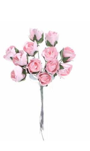 Купить M21 Цветы бутоны бумажные на проволоке 1,5 см/12sz 6ko на Otpravka - цены и фото - доставка из Польши и стран Европы в Украину.