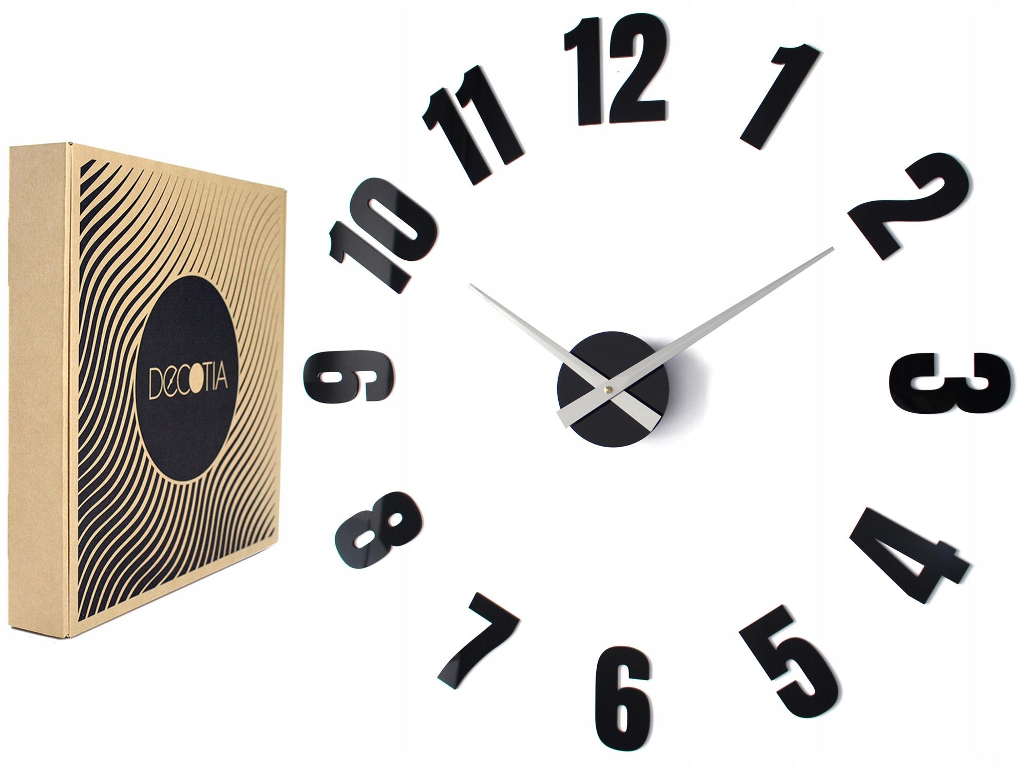 Zegary ścienne Do Kuchni Z1183 Xxl Naklejane Duże