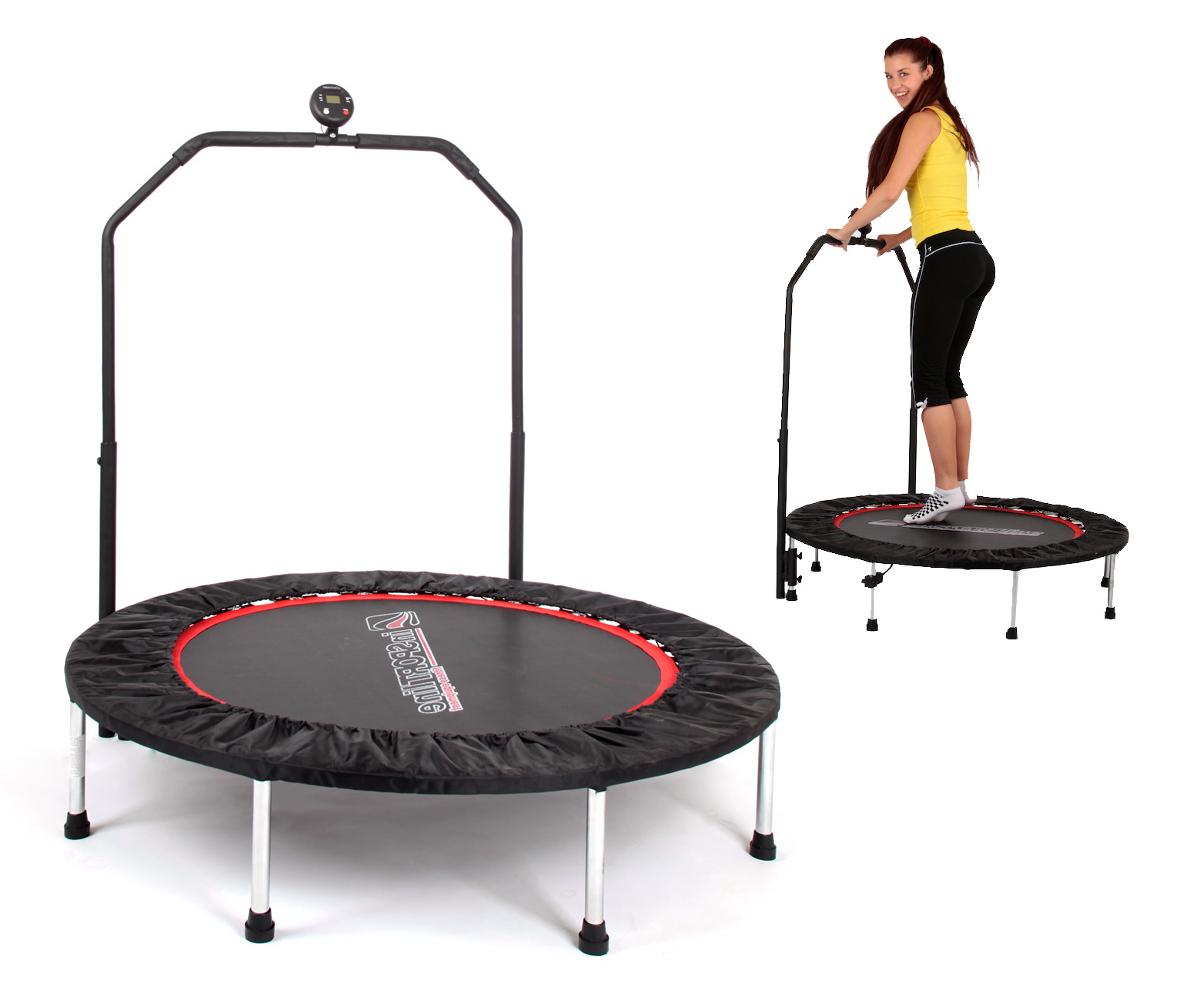 Trampolína fitness zábradlia PROFI Digital 140 cm