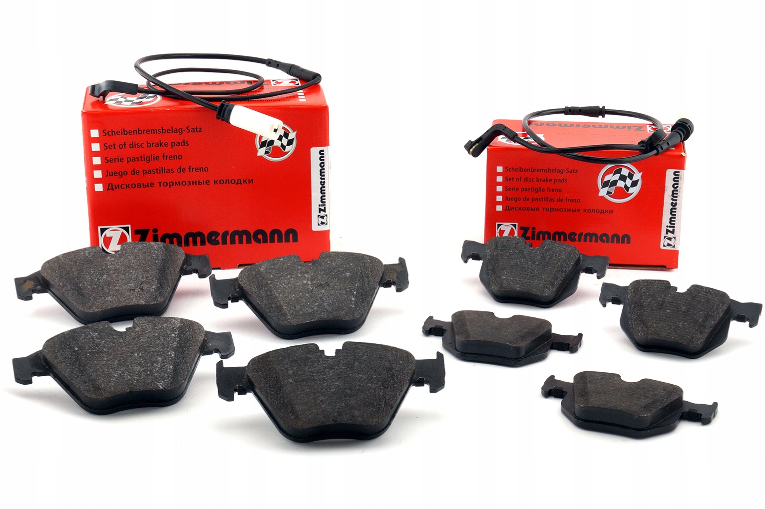 zimmermann колодки вперед + сзади bmw 5 e60 e61 530d