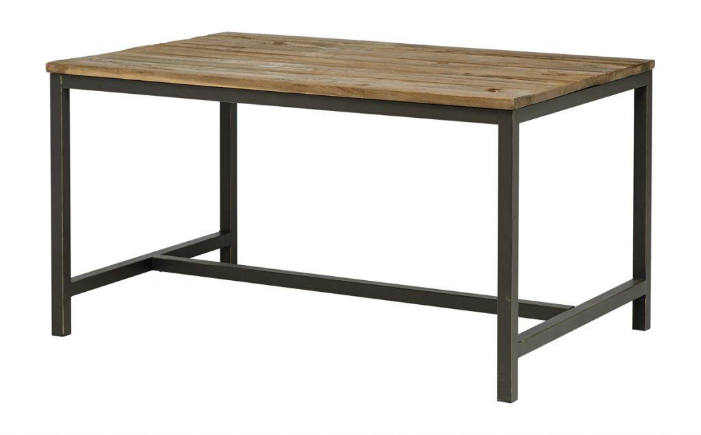 Tabuľka jedáleň VINTAGE 140 cm, masívne drevo, kov