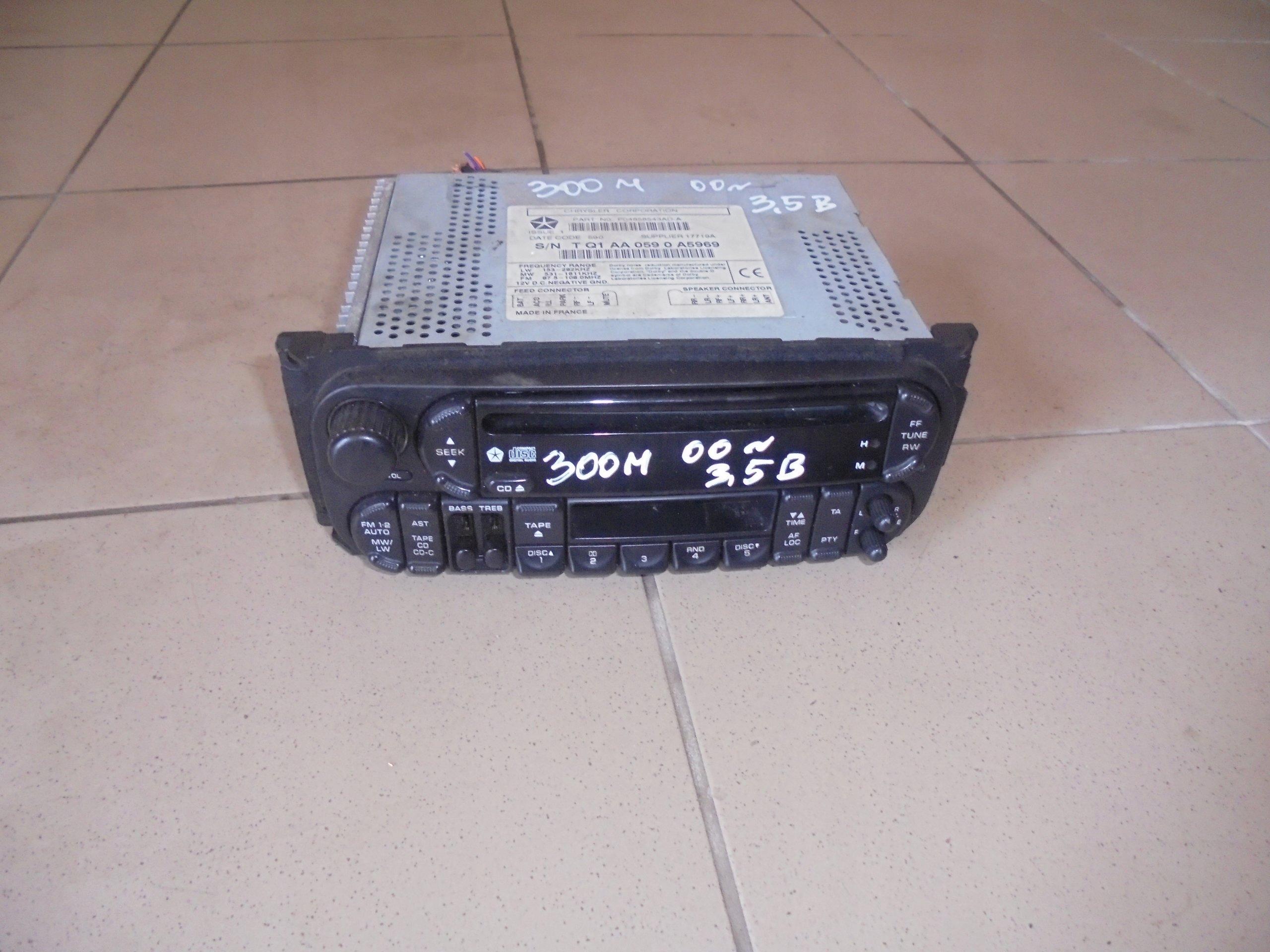 chrysler 300m радио дополнительно usb 04858543ad