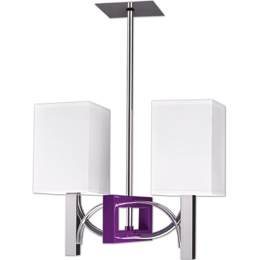 Moderná lampa prívesok lampa RIFFTA z dvoch súrodencov, kemar FIALOVÁ