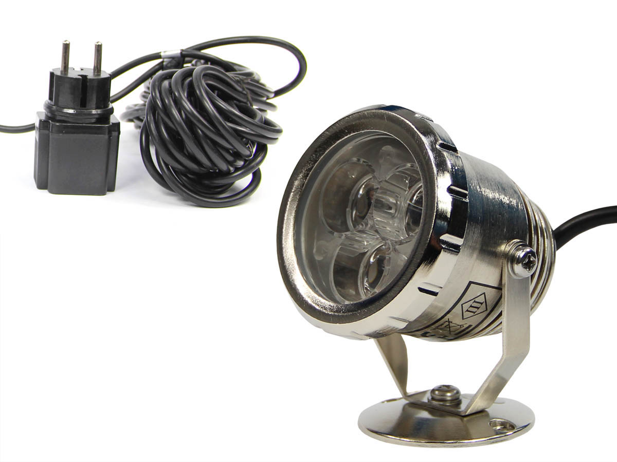 METALOWA LAMPA QL-25 LED 3W _KOLOR ŻÓŁTY _DO OCZKA