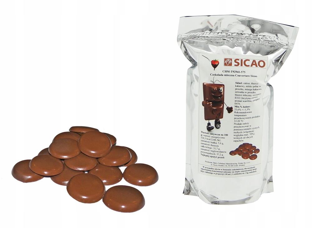 Купить 0,5 КГ МОЛОЧНЫЙ Шоколад SICAO для фондю и фонтанов на Otpravka - цены и фото - доставка из Польши и стран Европы в Украину.