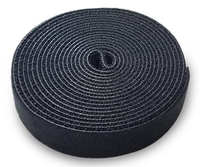 Velcro Band Organizátor Káblové káble Čierne 3m